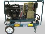 מדחס נייד מנוע בנזין כולל סטרטר ומצבר